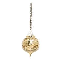 Eclat Brass Moroccan Pendant, 19 x 19 x 22cm