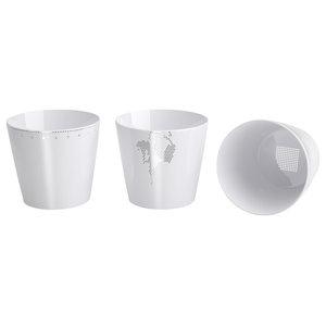 Platinum Collection of Ceramic Cups, Set of 3