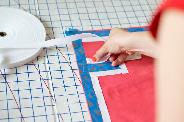 DIY: Easy and Affordable Iron-On Greek Key Pillow Sham