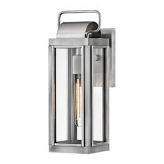 Sag Harbor 1-Light Outdoor Wall Mount, Antique Brushed Aluminum