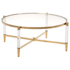 Outstanding Louisa Coffee Table Clear Gold Contemporary Coffee Andrewgaddart Wooden Chair Designs For Living Room Andrewgaddartcom