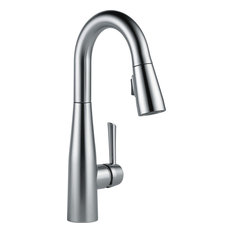Delta Essa Single Handle Pull-Down Bar / Prep Faucet, Arctic Stainless