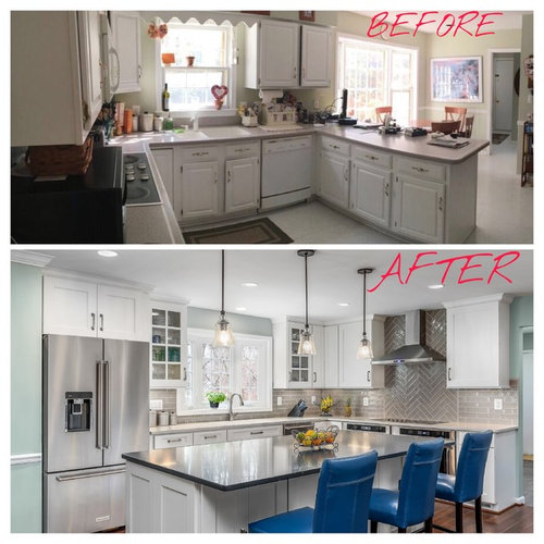 Kitchen Addition Renovation Before After