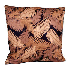 Black Mambo 90/10 Duck Insert Pillow With Cover, 20x20
