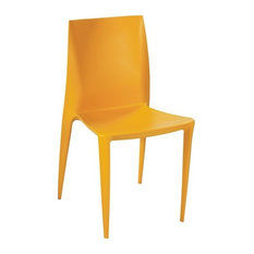 Fine Mod Imports Square Dining Chair Orange By TRIBECA DECOR ...