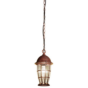Hall S1 Steel and Bevelled Glass Pendant Light
