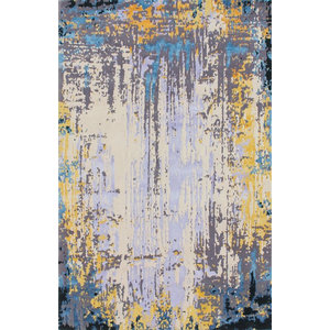 Hand-knotted Multicoloured Rug, 150x240 cm