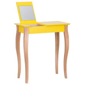 Lilo Small Scandinavian Dressing Table, Yellow