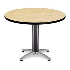 "Round Mesh Base Table, 42"", Oak"