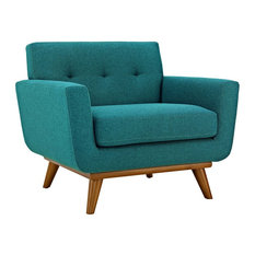 Engage Upholstered Fabric Armchair, Teal