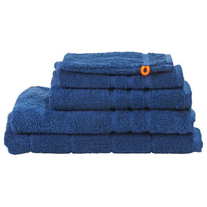 Daily Uni Towel Collection, Blue, Set of 5