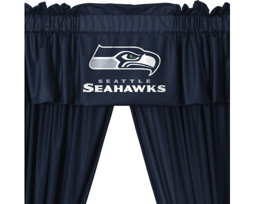 Great Store51 LLC   NFL Seattle Seahawks Football 5 Piece Valance Curtains Set    Curtains