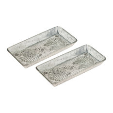 ELK Lifestyle Novell Set Of 2 Tray In Antique Silver Finish 518874/S2