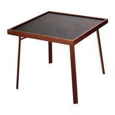 Captivating Kestell   4 Player Domino U0026 Game Table, Pecan   Game Tables
