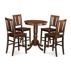 5-Piece Counter Height Dining Set High Table And 4 Kitchen Dining Chairs
