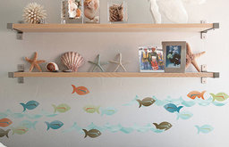"""Kids Decorative """"Fun with Fish"""" Vinyl, Removable and Repositionable"""
