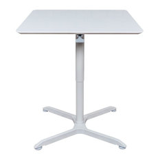 "32"" Pneumatic Height Adjustable Square Cafe Table"