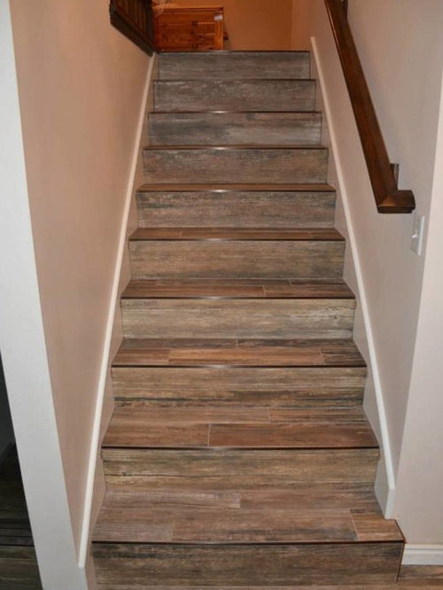 Wood tile stairs wb designs - Stairs with tile and wood ...