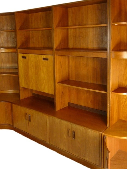 mid century modular wall unit by g plan bookcases