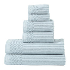 600 GSM SOHO COLLECTION  COTTON 6 PC TOWEL SET - SLATE BLUE