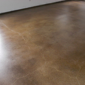 Basement Stained Concrete Floor