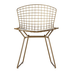 Wireback Chair, Champagne Gold