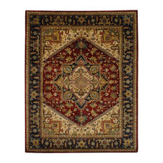 Safavieh Classic Collection CL225 Rug, Multi/Red, 5'x8'