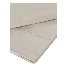 Cotton Sateen Flat Sheet, Wicker Green, UK Super King