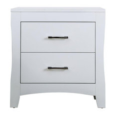 Furniture Of America Sumter Wood 2-Drawer Night Stand In White