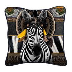 Bohemian Zebra Decorative Cushion