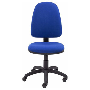 High Backed Chair, Foam Padded Cushions, Lumbar Support for Comfort, Royal Blue