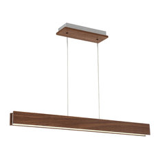 Drift LED Linear Pendant 3000K, Dark Walnut, 38""