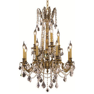 """Chandeliers Rosalia 24"""" 12-Light, French Gold"""
