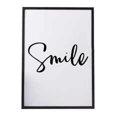 """""""Smile"""" Paper Print, Black and White, A4"""
