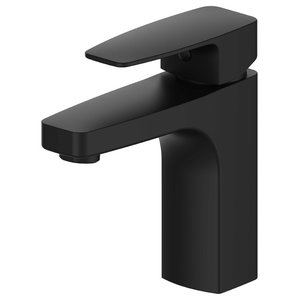 Corvus Matte Black Brass Bathroom Sink Mixer Tap