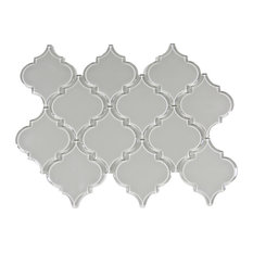 Smoke Arabesque Glass Tile, Sample