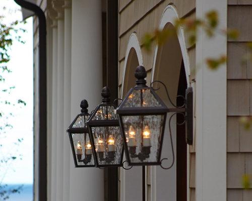 Shingle Style Exterior Lighting Project:London™ Lantern Garage Lights - Outdoor Wall Lights And Sconces,Lighting
