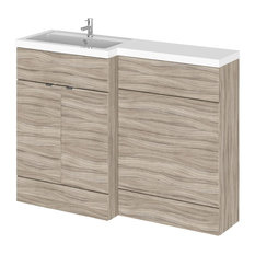 Stephanie Combinations Bathroom Vanity Unit, Driftwood, Left-Hand, 120 cm