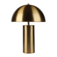 """Metal Dome Table Lamp, Gold, 22"""""""