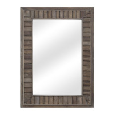 Cromer Traditional Rustic Wall Mirror, Rectangle