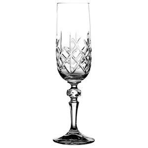 Decorative Lattice Champagne Flutes, Set of 6