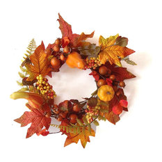 Pilgrims Harvest Candle Ring For a Thanksgiving Centerpiece