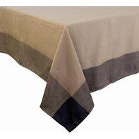 Contemporary Solid Color Border Tablecloth, Brown, 55x86