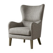 Madison Park Arianna Swoop Wing Chair, Gray