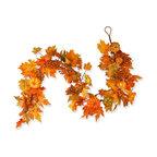 "70"" Maple Leaf, Pumpkin And Berry Garland"