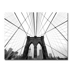 'NYC Brooklyn Bridge' Canvas Art by Nina Papiorek