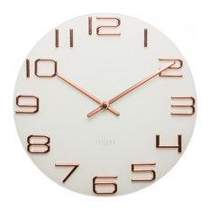 - Reloj Numbers Cobre Dial Blanco 30 cm - Relojes de pared