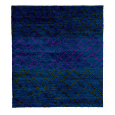Meningie D Hand Knotted Tibetan Rug, 6' Square