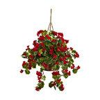 Geranium Hanging Basket UV Resistant, Indoor/Outdoor, Red