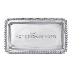 "Mariposa ""Home Sweet Home"" Beaded Tray"